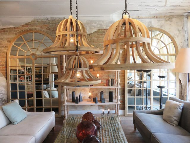 Natural Wood Frame Chandeliers