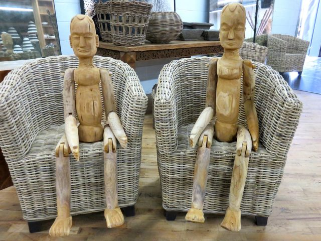 Wood Carved Men Sculptures