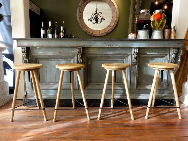 Wood Swivel Bar Stools